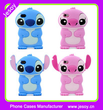 JESOY Hot Selling 3D Cute Rubber Silicone Stitch Phone Case For iPhone Samsung