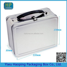 Custom Blank plain metal lunch box with collapsible plastic handle For birthday parties, company events, and promotions