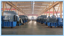 Long distance rubber belt groove and electric motor conveyor system