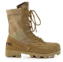 geniune leather dark brown desert boots for policeman