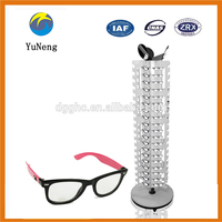 Customized Service for White Rotary Type Metal Glasses Display Racks