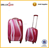 printed pc trolley bag/ abs spinner luggage/abs trolley suitcase