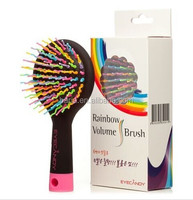Rainbow Volume S Brush Hair Curl Magic Accessory Perm Wave Straight Beauty Comb with Mirror
