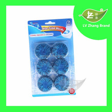 6Pcs Packing Powerful Blue Toilet Bowl Cleaner Flush Block