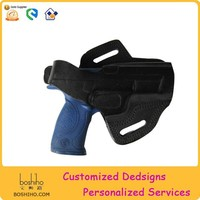 gun horizontal holster with real leather