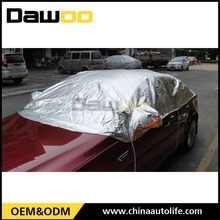 Sliver aluminum foil half car covers uk , dust cover for cars