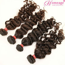 Homeage unprocessed intact virgin curly hair factory wholesale human hair