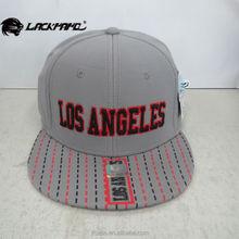 LOS ANGELES embroidery snapback hiphop flat cap popular around the world made in taizhou jiangsu