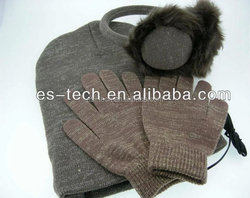 Wholesale Earmuff Hat Touch Screen Gloves