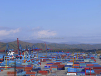 Container shipment, ocean freight, sea transportation from Shanghai to Vladivostok
