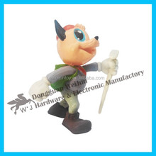 Hot sale small plastic material puppy dog toy with good quality