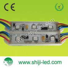 waterproof outdoor led sign module 3 led rgb injection module