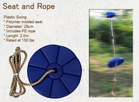Seated Swing for ZipLine Kit and Cable Trolley Pulley with a handlebar and dual ball-bearing in each wheels for fast