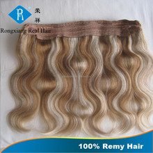 Fashion Style Long Lasting No Tangle Human Remy flip in hair extension
