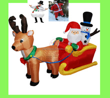 inflatable christmas decoration,Delivery within 3 days,Inflatable christmas yard decorations snowman and tree