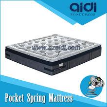 Alibaba Product Five Zone Mattresses, Natural Latex Sapphire Blue Spring Mattress