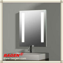 Hotel illuminated bathroom mirror with demist(made in China), 16 years supply for hotels