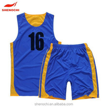 2015 low price top quality polyester best basketball jersey set design