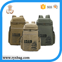 Canvas bags backpack khaki brown army green