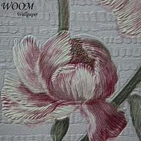 washable flower paint 3d natural texture interior plant wallpaper