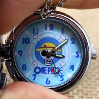P618 Pirate One Piece Silver Time Friendship Gift Pocket Watch