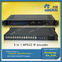 4 channel mpeg-2 sd digital headend IP encoder