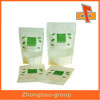 High qaulity biodegradble zip lock rice paper bag/rice paper stand up pouch with window for snack,coffee, food packaging