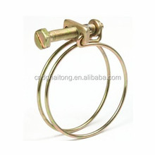 Stainless steel Adjustable Tube Pipe Double Wire Hose Clamp