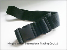 PP material luggage belt, bag belt with buckle, black buckle luggage belt
