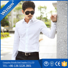 promotion solid color modal fabric blue dress shirt white collar
