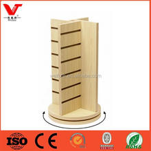 wood rotating counter display stand,counter display