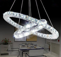 Silver crystal chandelier High quality crystal ball pendant light