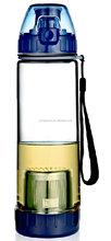 OEM BPA FREE 550ML ice tea Infuser filter Bottle sport Water Bottle