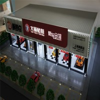 Abs and Acrylic handmade model with building model cars, 3d building models