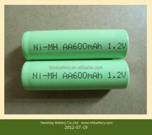 1.2v 2000mAh NiMH battery ,rechargeable nimh battery 1.2v aa2000mah for toys