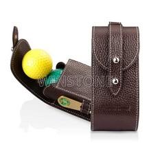 Luxury Leather 2 Ball Golf Case