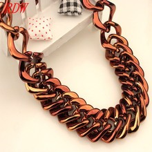 RDW Necklace Latest Design With Plain Rotating Choker Chain Necklace Promotional Wide Choker Necklace