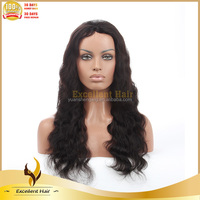 Trade Assurance Wholesale Handmade Unprocessed Natural Black Color Tangle Free Brazilian Human Hair Full Lace Wig
