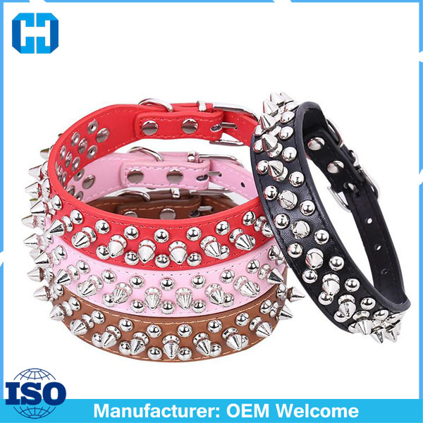 Punk-Style-Spiked-Pet-Dog-Collar-Round-Bullet-Nail-Rivet-Studded-Collar-Neck-Strap-Pitbull-Collar