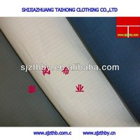 cheap price of Cotton blue yellow plaid fabric