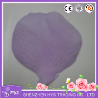 Real touch wedding use lavender fabric rose petals