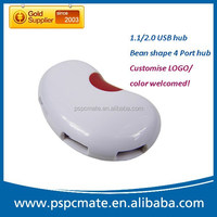 Alibaba china wholesale promotion gift bean shape usb 3.0/ 2.0 usb hub port 4 port expander types