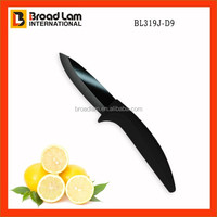 Vogue Black Mirror Ceramic Knife 3 inch small pocket knife with Curve Handle Shinning Sharp Blade