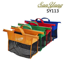 Hot Selling Reusable Grocery Cart Bag Shopping Plastic Grab Bag foldable