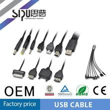 SIPU high quality 1 to 10 j1962 usb cable for mobile