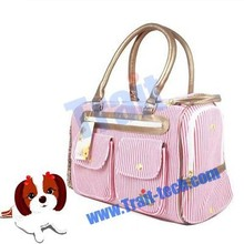 Pet Dog /Cat Bag Convenient Carrier, Fashionable stripe canvas carrier bag
