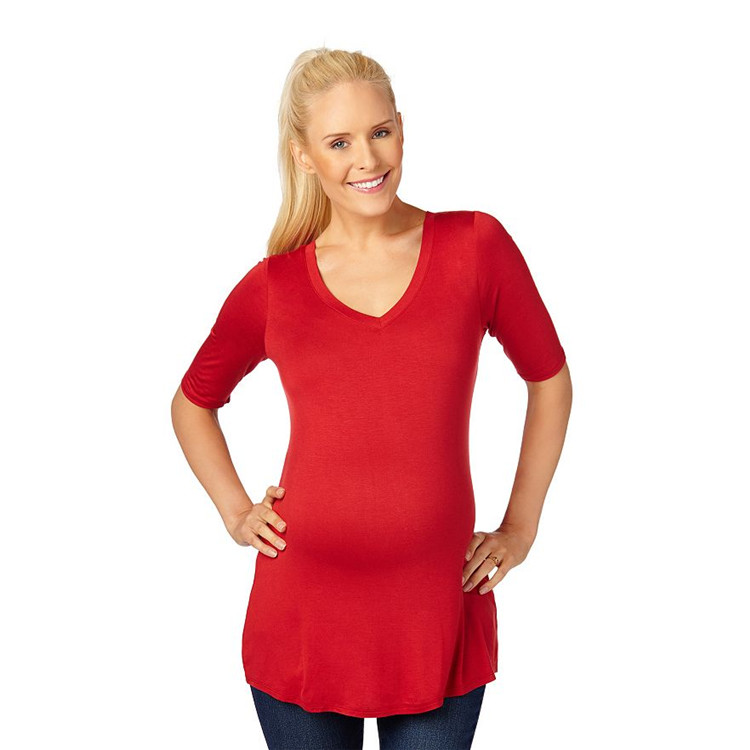 Macy's offers a limited, but on trend, stock of plus size maternity clothing. Most of the styles are appropriate for daily wear and you can find so many items on sale! Because Macy's is a big store with a big selection, it's also worth your time to check out the standard plus size section to look for flowy empire waist tops and long.