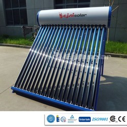 2015Best Quality and Low Price CE ISO CCC Patent homemade Green solar energy water heater for the tropic