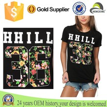 Fashion Floral Fill teen girl t-shirts Women Customized T Shirts printing