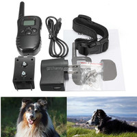 Newest Best Promotion 300M Rechargeable And Waterproof Shock Vibra Remote Control LCD Electric Pet Dog Training Collar